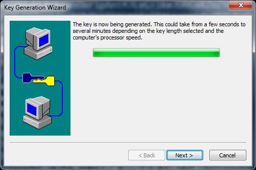 SecureCRT процесс создания ключа