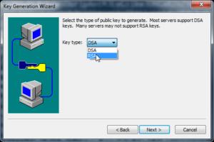 SecureCRT тип ключа rsa или dsa