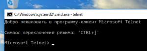 Проверка работы telnet клиента