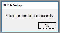 Настройка DHCP сервера завершена