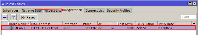 mikrotik wireless registration