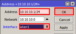mikrotik wlan1 ip address