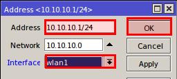 mikrotik wlan1 ip address