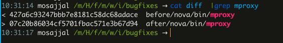 Поиск различий в коде mproxy