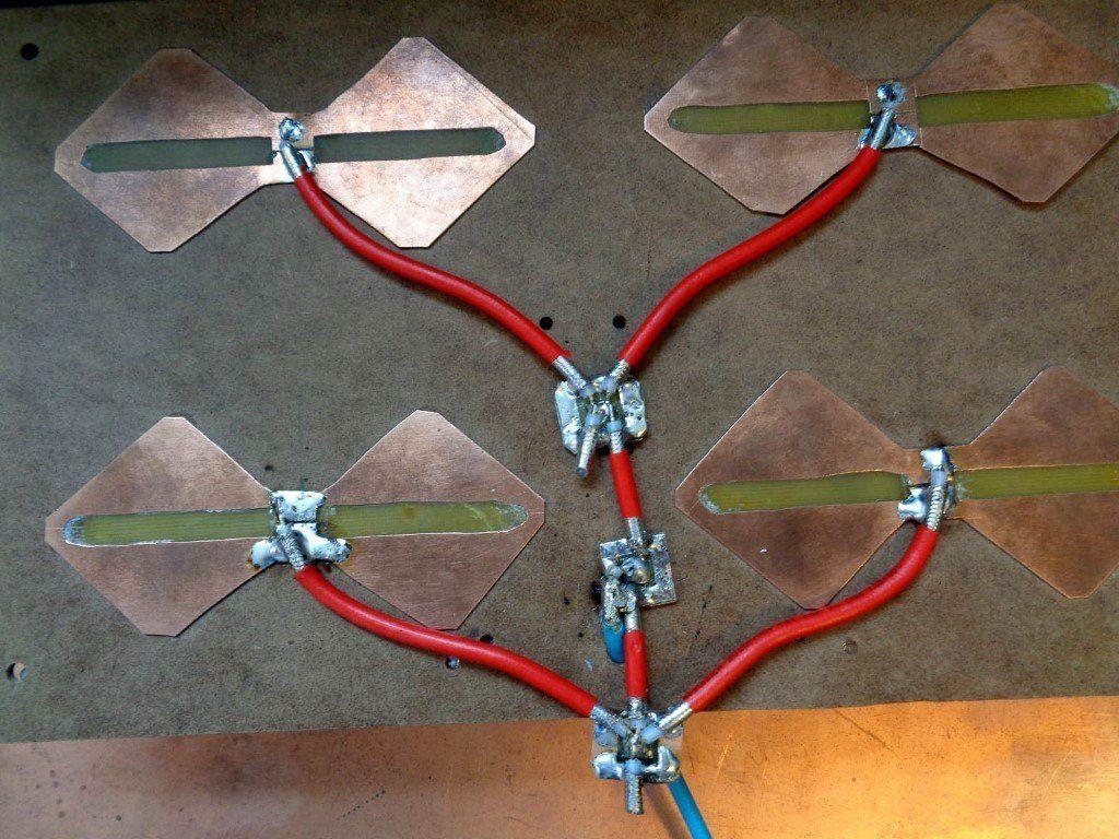 Антенная решётка из 4-х вибраторов