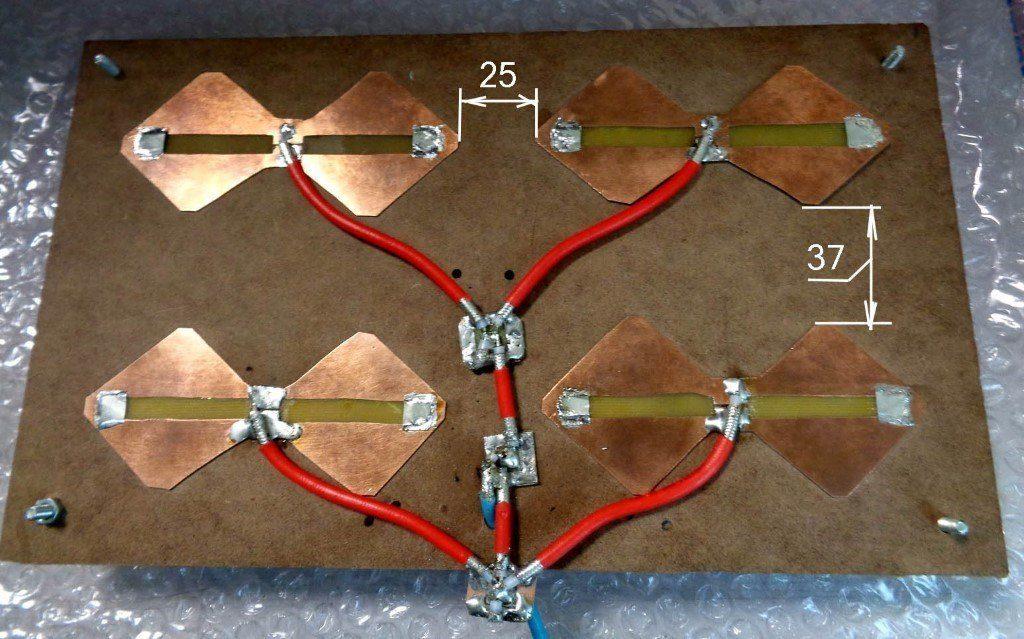 Минимальные расстояния между вибраторами