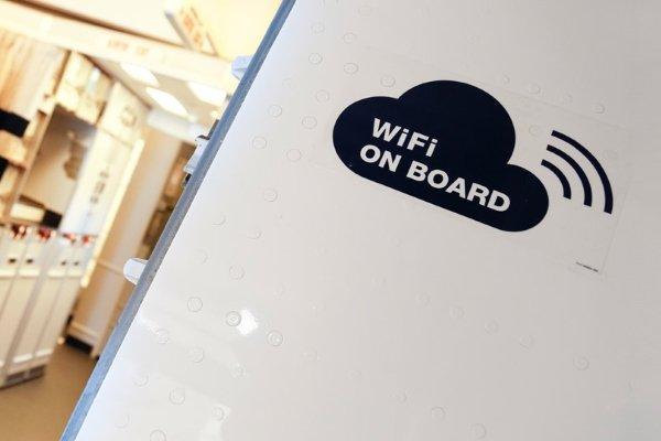 Wi-fi на борту самолета