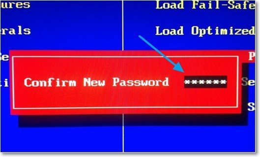 Подтвердить пароль и нажать Enter